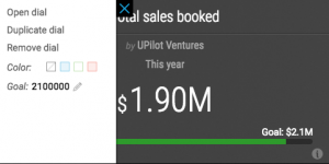 Setting Sales goals in UPilot