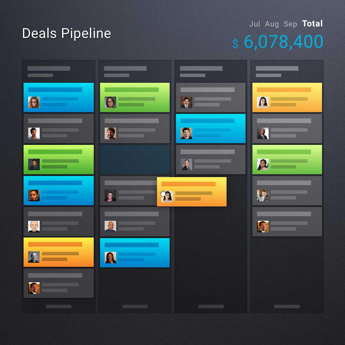 Deals pipeline with revenue predictions